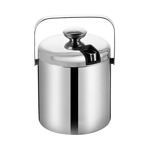 Double-Wall Stainless Steel Insulated Ice Bucket with Lid Tong Handle for Home Bar Chilling Beer Champagne Wine Dropshipping