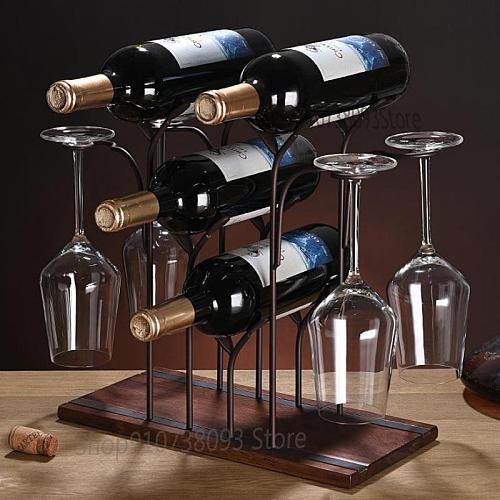 Creative Red Wine Glass Rack Upside Down, Home Restaurant Wine Cabinet Decoration, European Style Red Wine Rack Decoration, Red