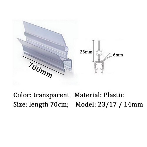 2PCS Glass Thickness 4-6mm Seal Ring Strip For Shower Bathroom Screen Door