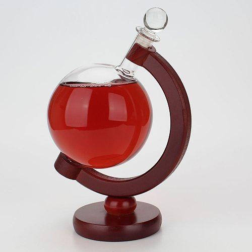 Mini Globe Whiskey Decanter Aerator Glass Bottle with Holder Rack Alcohol Vodka Decanter Pourer Barware 500ML