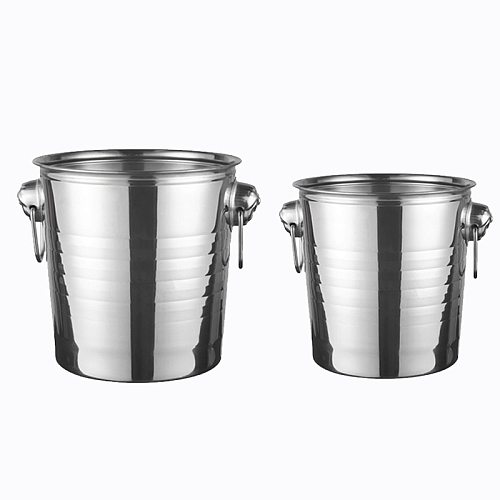 Promotion! Stainless Steel Ice Bucket for Bar Party Champagne Wine Barrel Silver