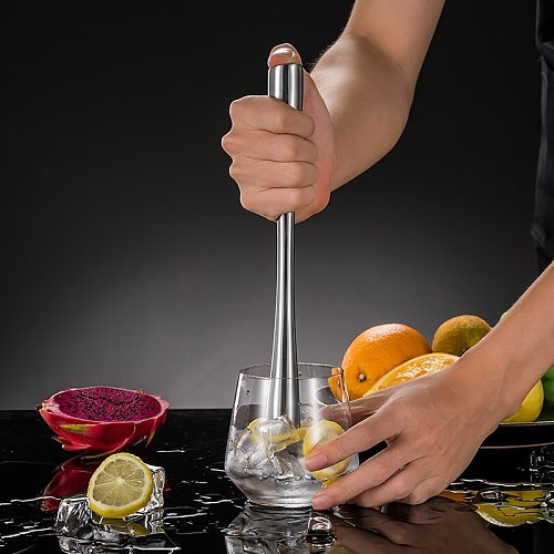 Stainless steel crushed Popsicle fruit mash stick lemon hammer squeeze juice cocktail punch Popsicle knock ice crush stick