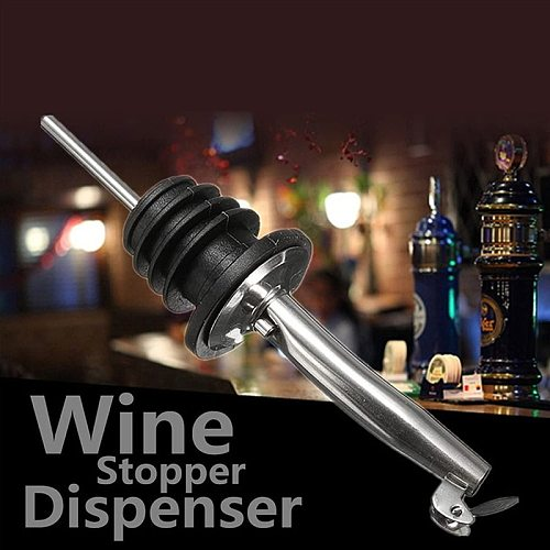 Stainless Steel Seasoning Oil Bottle Wine Whiskey Pouring Device Sealed Leakproof Sauce Bottles Pour Spout Stopper Kitchen Tools
