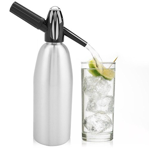 Portable 1L Soda Maker Cold Drink Carbonated Bubble Water Machine DIY Cocktail CO2 Soda Siphon Maker Bar Tools