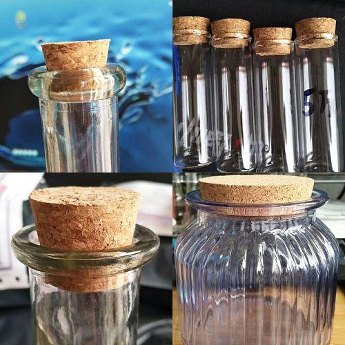 8-50mm bottl cap keeperConical Glass Bottle Stopper home brew Wine Jar Plug Beer Bottle Oak Cork Pudding Container Wood Lid Cap