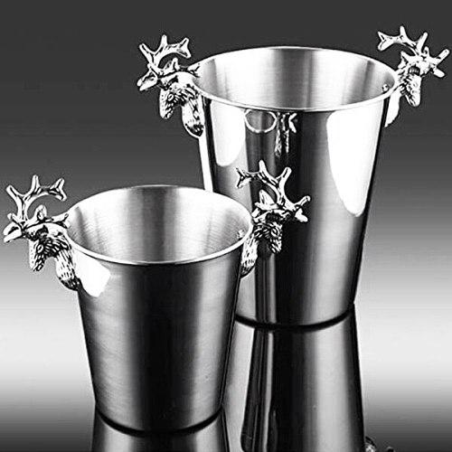 Stainless Steel Deer Head Handle,Insulated Ice Bucket,for Paties &Bar