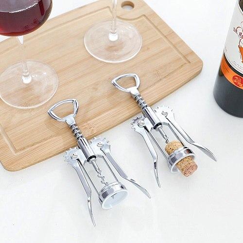 Portable Stainless Steel Red Wine Opener Wing Type Metal Sommeliers Wine Corkscrew Bottle Openers Corkscrews Wine Cork Remover