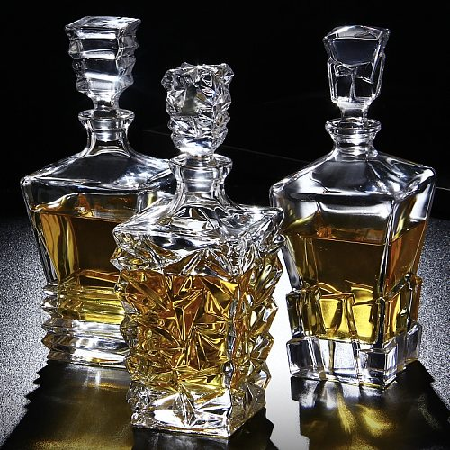 Crystal Glass Wine Red Bottle + 2PCS Cups Wine Decanter Whiskey Liqour Pourer Home Bar Vodka Beer Bottle Jar Jug JR