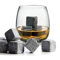 9pcs Whisky whiskey Ice Stones Set Drinks Beer Cooler Cubes Rocks Granite Pouch Cooling Ice Cube Rocks With Bag