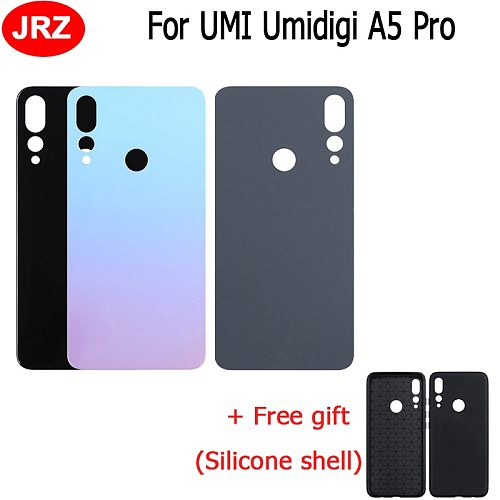 Battery Cover For Umidigi A5 Pro Glass Battery Case Protective Back Cover Replacement Accessories For Umidigi A5 Pro+Gift