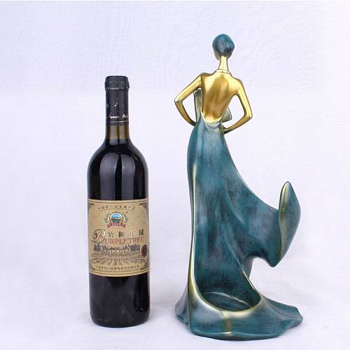 Blue/Red Resin Craft Modern Simple Take a Fan Beauty Wine Rack To Place a Creative Restaurant Wine Cabinet