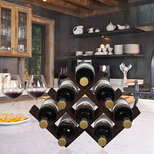 Wine Rack Wine Holder Wine Storage 8 Bottle Rack Brown Color L17.25  x W 4  x H 11.5