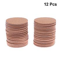 12Pcs Non Slip Pads Table Mats Drink Coaster Table Placemats DIY Round Cork Mats Self-adhesive Coasters Cup Pads for DIY Crafts
