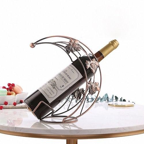 Moon Shape Red Wine Rack Holder