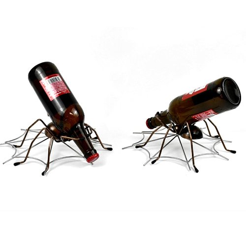 Creative Insect Wine Rack Simple Wrought Iron Wine Rack Metal Craft Ornaments Desktop Cabinet Spider Wine Holder Decoration