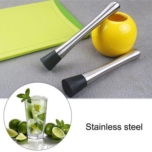 Muddler Stainless Steel Fruit Juice DIY Utensils Ice   Barware Tool Crushing   Hammer Wine Mixing Stick Cocktail Mixer