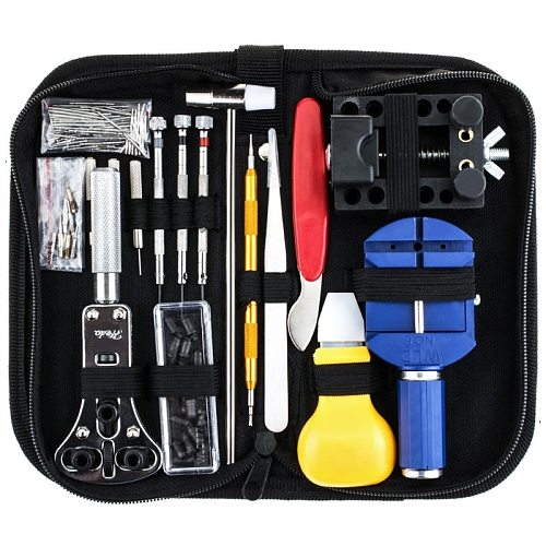 Free shipping 147Pcs Watch Repair Tool Kit Case Opener Link Spring Bar Remover Watchmaker Tool