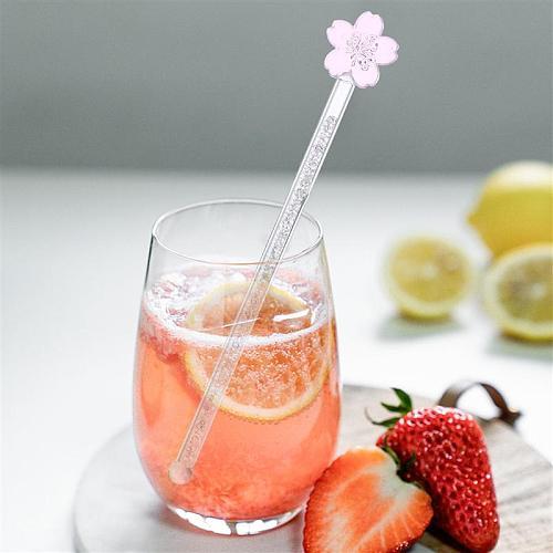 Glass Milk Coffee Juice Drink Muddler Stirrer Swizzle Stick Stirring Rod