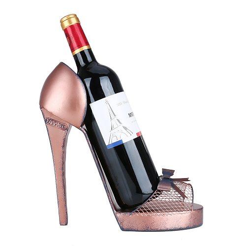 Tooarts High heel Wine Rack Creative Wine Holder Modern Art Ornament Hotel Cabinet Decor Desk Decor Perfect Gift