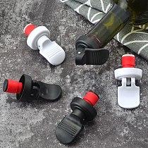 2PCS/lot Pumping freshness stopper Soda Beer Wine Vacuum Retain Freshness Bottle Sealer Red Wine Sealed Retain Freshness Tools