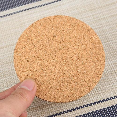 Heat Insulation Round Cork Coaster Non-Slip Tableware Kitchen Coffee Wine Drink Tea Cup Mat Heat And Scratch Resistant
