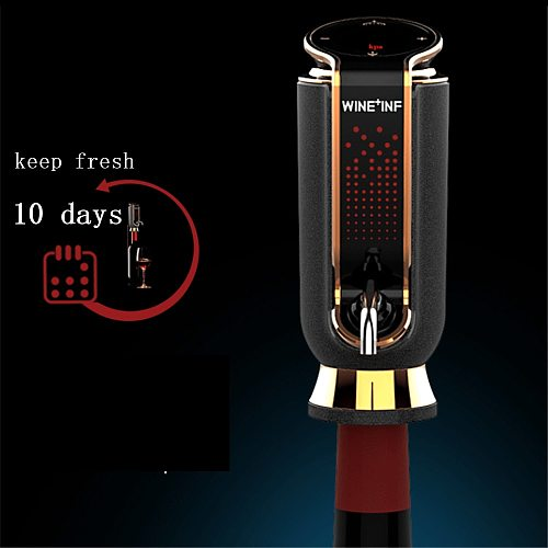 Electric Red Wine Decanter USB Charging Auto Quick Wine Aerator Vacuum Fresh-keeping 10 days Whiskey Dispenser Cider Wine Pourer