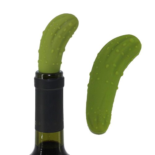 Silicone Cucumber Red Wine Bottle Stopper Resealable Plug Cork Leakproof Bottle Sealer Wine Fresh Saver Kitchen Accessory