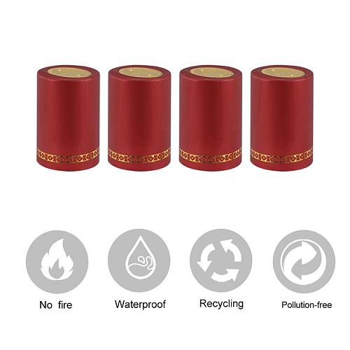 100pcs 33mm Red Wine Sealed Cover Wine Bottle Heat Shrink Capsule Shrinkable Cap Bottle Cover Bar Party Accessories