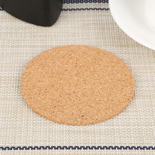 Heat Insulation Round Cork Plain Coaster Coffee Wine Drink Tea Cup Mat Pad Household Office Mat Tableware Kitchen Accessories