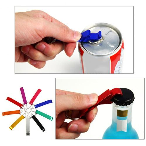 Creative Multifunctional Keychain Bottle Opener Ergonomic Design Labor-saving Beer Can Opener Bartender Corkscrew Bar Party Tool