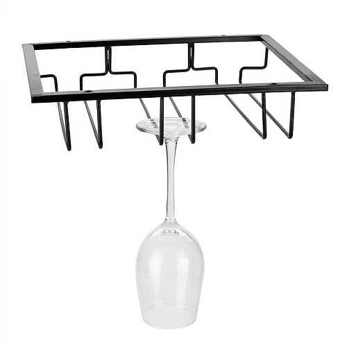 Under Cabinet Stemware Hanging Wine Rack W/ Screws Home Bar Decor
