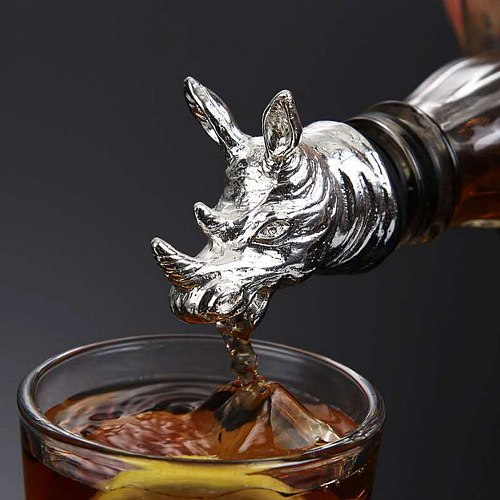 Alloy Wine Pourer, Aerator and Decanter Perfect Pour Spout for Red, White and Rose Wine, Liquor and Olive Oil