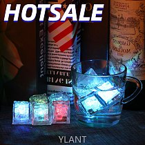 YLANT Luminous LED Ice Cubes Light Flash Festival Wedding Party Xmas Decoration Color Changing Bar Tools Grow In the Dark 1PC
