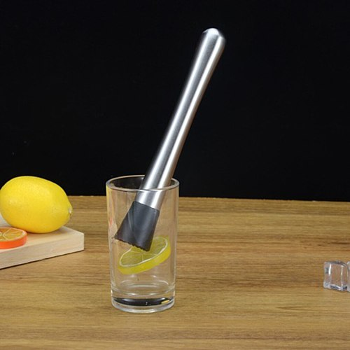 Muddler Stainless Steel Kitchen Gadget Utensils Wine Mixing Stick Drink Fruit Juice Crushing   Hammer 1PC Cocktail Mixer