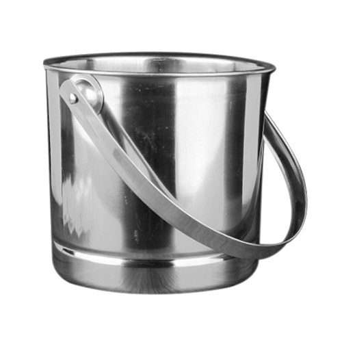 Stainless Steel Ice Bucket Portable Ice Chiller Cooler with Handle Ice Cube Container for Wine Champagne Beer KTV Bar