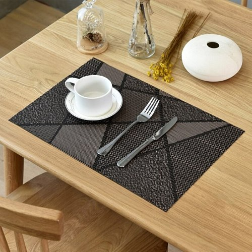 New Washable Placemats for Dining Table Mat Non-slip Placemat Set in Kitchen Accessories Cup Coaster Wine Pad Desktop Decoration