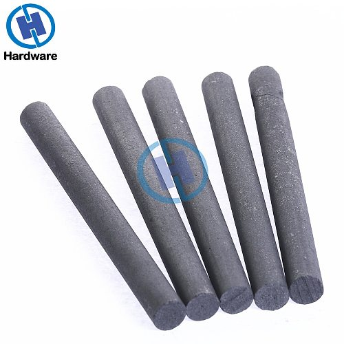 5pcs Black Carbon Rod 99.99% Graphite Electrode Cylinder Rods Bars 100x10mm For Industry Tools