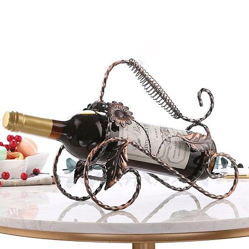 Linglong Leaves Red Wine Rack Holder
