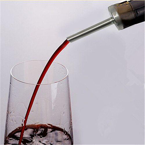 Stainless Steel Wine Olive Oil Pourer Dispenser Spout Wine Bottle Spout Stopper Home Kitchen Bar Tool Wine Pourer 998309
