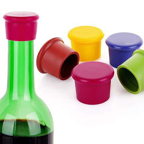 Silicone Wine Bottle Cover Wine Bottle Beer Cork Cover Kitchen Bar Repair Tool Cold Stopper Kitchen Gadget Good Housekeeping