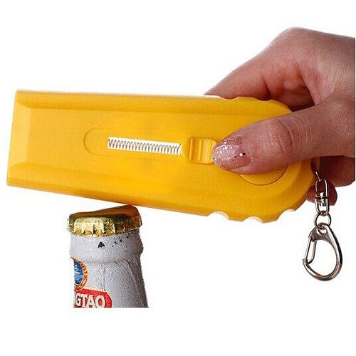 Can Opener Spring Cap Corkscrew Catapult Launcher Gun Shape Bar Tool Drink Opening Shooter Beer Opener Bottle Wine Opener#Y3