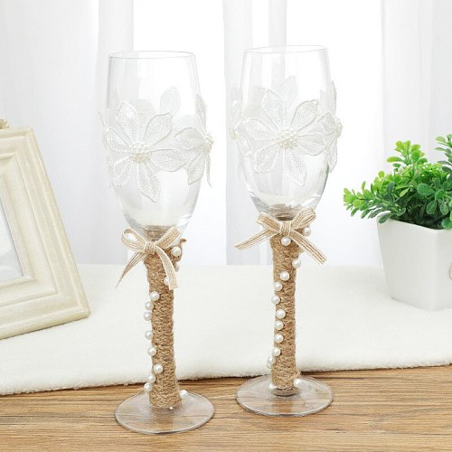 Wine Party Champagne Glass Cocktail Glass Wine Cup Goblet Cups Wedding Party Glass Wine Cup Gift Box Wedding Supplies A