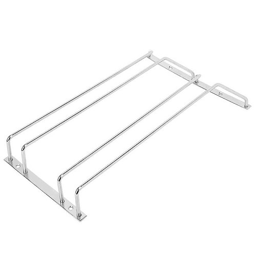 35cm Double Row Stainless Steel Wine Rack Hanging Shelf for Ba Home