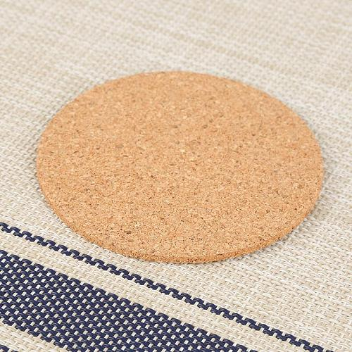 Non-Slip Natural Cork Coaster Heat Insulation Classic Round Plain Wine Drink Coffee Tea Cup Mats Table Pad Home Office Tableware