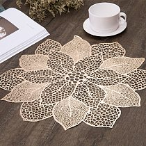 Stand Mug Coaster Placemat for Kitchen Dining Table Simulation Plant PVC Mat Decorative Pad Home Decor