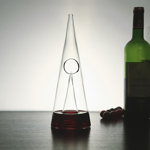 350/750ml Pyramid Waterfall Red Wine Pourer Glass Decanter Brandy Decant Jug Bar Champagne Water Bottle Drinking Glasses