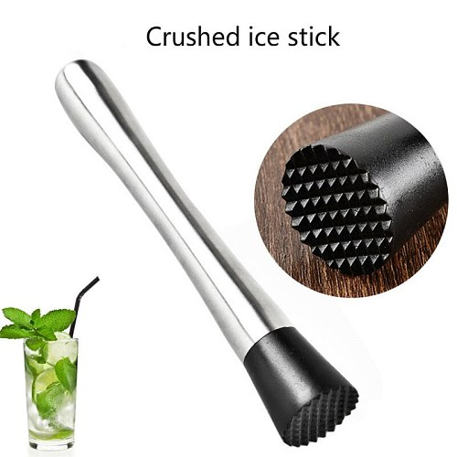 304 Stainless Steel Crushed Ice Pestle Bar Cocktail Crushed Ice Stick Bar Lemon Masher Mixer Kitchen Bar Tools Bar Accessories