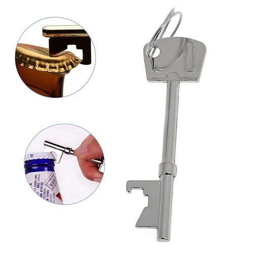 Portable Key Shape Bottle Opener Ring Keyring Keychain Metal Beer Party Tool Beer Cap Opener  Kitchen Bar Tools Accessories