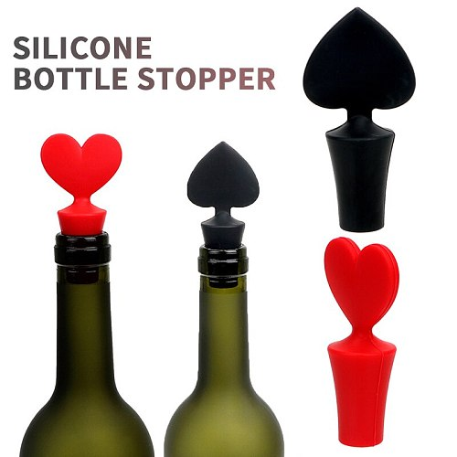 Hot Reusable Wine Beer Wine Cover Bottle Cap Silicone Stopper Beverage For Home Bar Stopper Cover Barware Bar Accessories