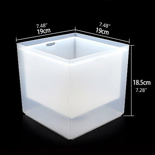Durable LED Double-layer Square Ice Bucket Bar Ice Wine Trough Water Holder